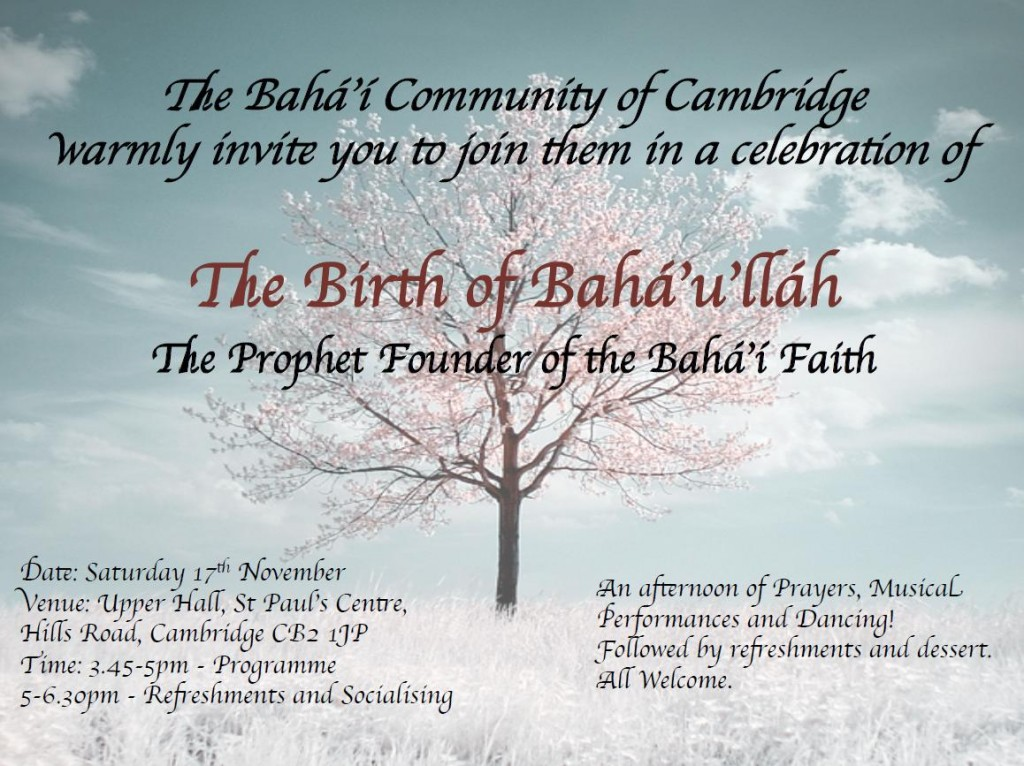 Birth of Baha'u'llah Invitation